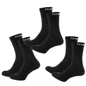 ponožky (set 3 párov) HORSEFEATHERS - DELETE - BLACK - AA547A