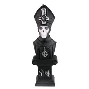 sviečka GHOST - PAPA EMERITUS - BLACK MATT - PLASTIC HEAD - PHCAND026