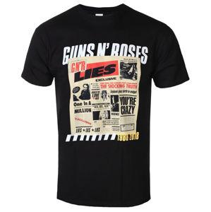 tričko metal ROCK OFF Guns N' Roses Lies Track List Čierna M