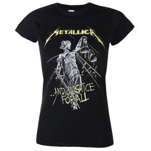 Tričko metal PLASTIC HEAD Metallica AND JUSTICE FOR ALL TRACKS Čierna XL