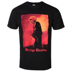 Tričko metal ROCK OFF Marilyn Manson Madmonk Čierna XL
