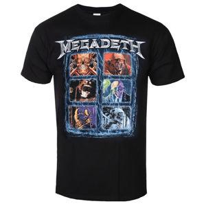 Tričko metal ROCK OFF Megadeth Head Grip Čierna S