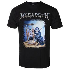 Tričko metal ROCK OFF Megadeth Countdown Hourglass Čierna XXL
