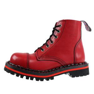 topánky STEADY´S - 6 dírkové - Red - STE/6/PAS_red - POŠKODENÉ - BH069 36