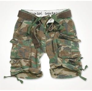 kraťasy SURPLUS - DIVISION SHORT - WOODLAND - 05-5598-62 L