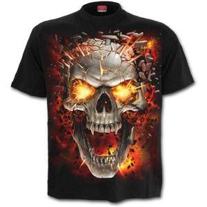tričko SPIRAL SKULL BLAST Čierna XXL