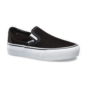 topánky dámske VANS - UA CLASSIC SLIP-ON PLATFORM Black - V0018EBLK