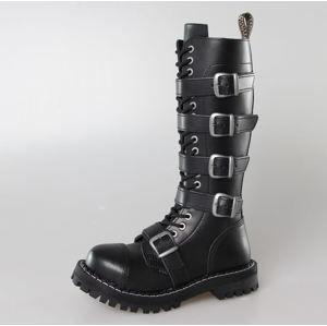 topánky kožené dámske - - STEEL - 139/140 BLACK 5P 39