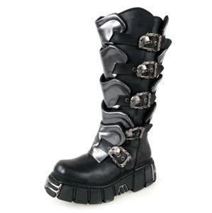 topánky NEW ROCK - Gladiator Boots (738-S1) Black-Grey - N-8-40-700-08