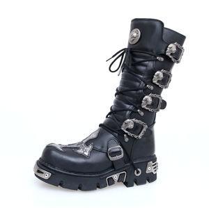 topánky kožené dámske - Cross Boots (403-S1) Black - NEW ROCK - M.403-S1 38