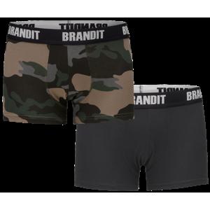 boxerky pánske (set 2 kusov) BRANDIT - 4501-dk.camo+black S