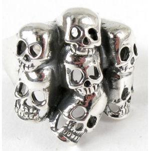 prsteň strieborný Lebka - BR 30 69