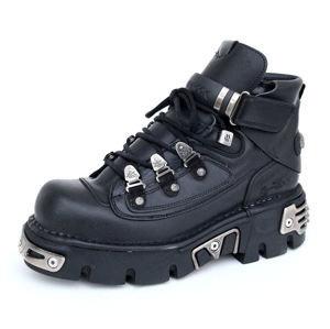 topánky kožené NEW ROCK 654-S1 Čierna 39