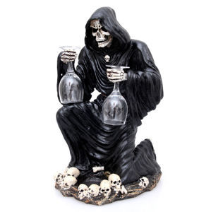 dekorácia Grim Reaper Bottle and Glass Holder - NEM6307