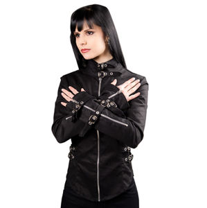 košele dámska Black Pistol - Buckle Blouse Denim Black - B-4-69-001-00
