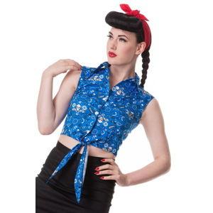 košele (vesta) dámska HELL BUNNY - Bandana - Blu - 6323 L
