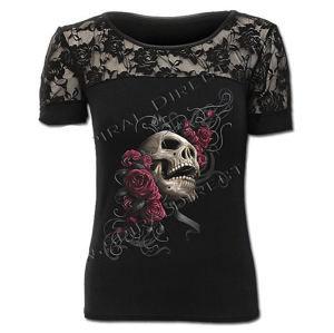 SPIRAL Rose Skull Čierna XL