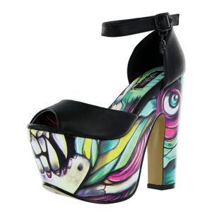 topánky na podpätku IRON FIST Skin Crawler Super Čierna zelená žltá ružová viacfarebná 39
