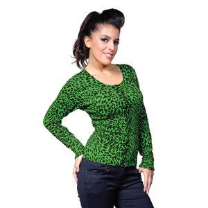 sveter dámsky BANNED - Green Leopard - CBN301GRE