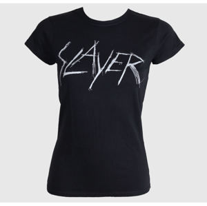 Tričko metal ROCK OFF Slayer Scratchy Logo Čierna XXL