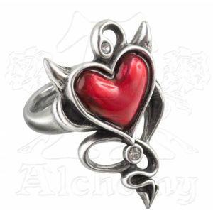 prsteň ALCHEMY GOTHIC - Devil Heart - ULFR6 Q