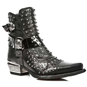 topánky kožené NEW ROCK Itali Negro Čierna 43