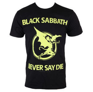 tričko metal BRAVADO Black Sabbath Never Day Die Čierna M