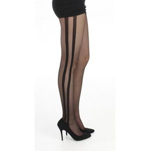 pančucháče PAMELA MANN - Side Stripe Sheer - Black - PM236 S/M