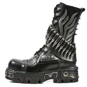 topánky kožené NEW ROCK PULIK ACERO Čierna 37
