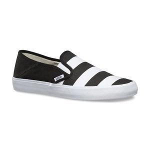 tenisky nízke VANS Slip-On (Stripes) Čierna biela 45