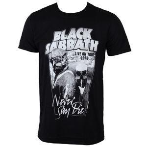 ROCK OFF Black Sabbath Never Say Die Čierna