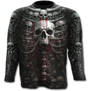 tričko SPIRAL DEATH RIBS Čierna XXL