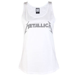tielko dámske METALLICA - CLASSIC LOGO WHITE - AMPLIFIED - AV663MLB