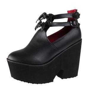 topánky s klinom dámske - Too Fly Super - IRON FIST - IFW005129-Black 37