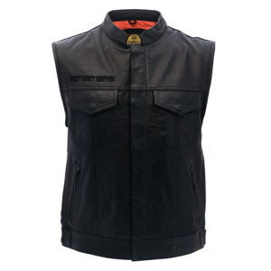 vesta - OG CROSS LEATHER RIDING - West Coast Choppers - WCCJS020ZW 3XL