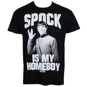 HYBRIS Star Trek Spock Is My Homeboy Čierna