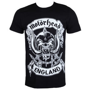 tričko metal ROCK OFF Motörhead Crosses Sword England Čierna XL