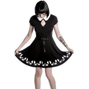 šaty dámske KILLSTAR - Keiko Kitty - Black - K-DRS-F-2473 XL