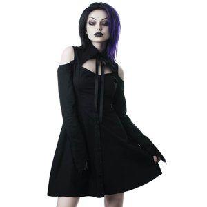 košeľové šaty KILLSTAR - Exorcista - BLACK - KSRA000392 XXL
