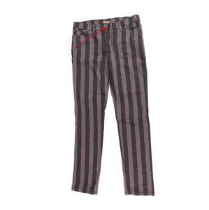 nohavice (unisex) 3RDAND56th - Stripe Skinny - Blk / Grey - POŠKODENÉ - MA163
