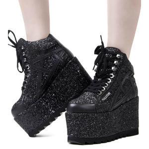 topánky s klinom dámske - Malice - KILLSTAR - KSRA000856 36