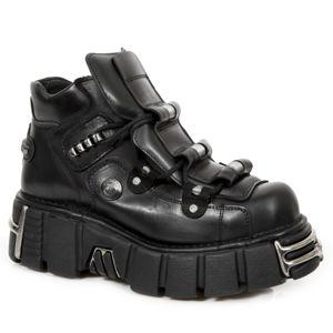 topánky kožené NEW ROCK ITALI NEGRO Čierna 41