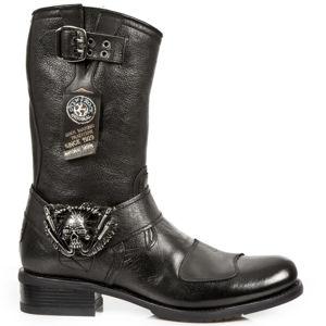 topánky kožené NEW ROCK BUFALO NEGRO Čierna 46