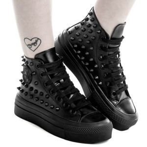 topánky s klinom unisex - SOULED OUT HIGH TOPS - KILLSTAR - K-FTW-F-2690 40