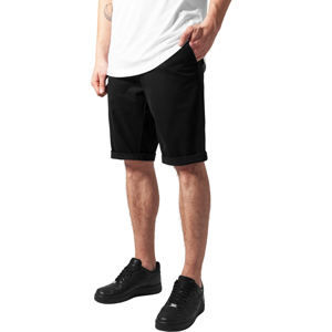 kraťasy pánske URBAN CLASSICS - Stretch Turnup Chino - TB1264-black 32