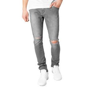 ead6b066fa09 nohavice pánske URBAN CLASSICS - Slim Fit Knee Cut Denim - TB1652 grey