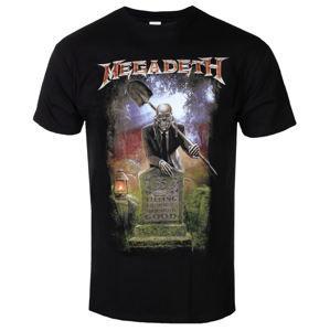 Tričko metal PLASTIC HEAD Megadeth 35 YEARS GRAVEYARD Čierna L
