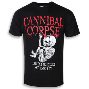 tričko metal PLASTIC HEAD Cannibal Corpse BUTCHERED AT BIRTH BABY Čierna S