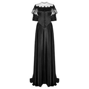 šaty dámske (svadobné, plesové) PUNK RAVE - Black Ruby Gothic - WQ-356/BK XS