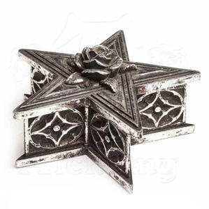 krabička (dekorácia) ALCHEMY GOTHIC - Pentagram - V59